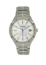 Caravelle by Bulova 43B116 Men's Silver Tone Round Analog Date Watch