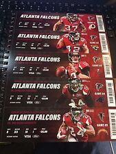2016 ATLANTA FALCONS FOOTBALL SEASON TICKET STRIP SHEETS STUB GEORGIA DOME LAST