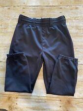 Wilson Youth Large Black Baseball Pants Euc W28-32 R11.5 L20.5 Elastic Ankles