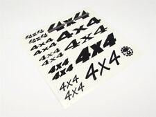 """Gear Head RC Vinyl """"4X4"""" Decal Sheet - Matte Black GEA7083"""