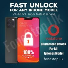 Vodafone Express Unlock Code service iPhone 4G,4S,5G,5S,5C,6 ✅24-48 Hours