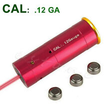Red Laser Bore Sight 12 Gauge Barrel Cartridge Sighter For 12GA Caliber Hunting