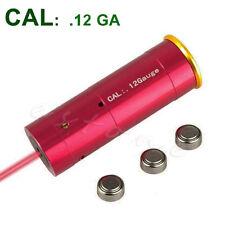 Red Laser Bore Sight 12 Gauge Barrel Cartridge Sighter For 12GA Caliber Hunting