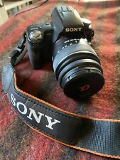 Sony Alpha A33 14.2MP Digital SLR Camera 18-55 lens, four batteries, and filters
