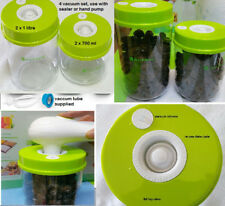 4 fresh Vacuum Sealer Food Containers Food Saver Canisters 2 x 1L 2 x 700 ML