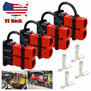 4X 50A Battery Quick Connect Disconnect Electrical Plug 2-4 Gauge Winch Trailer