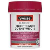 Swisse High Strength CoQ10 300mg 90 Capsules - Maintains Cardiovascular Health