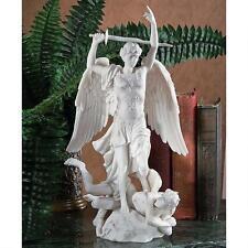Archangel Saint Michael Satan's Defeat Sculpture Bonded Marble Statue