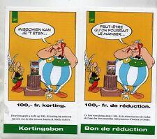 UDERZO Astérix. 2 flyers Bon de réduction BP 1996. Français & néerlandais