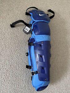 """NIKE Men's Vapor Baseball Catchers Leg Shin Guards Size 17"""" Blue PBP614 941 NWT"""