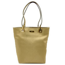Auth Gucci Gold Canvas Leather Bucket Form Tote Handbag 022.1099 (DH44958)