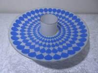 2 tlg. DDR Design Glas UFO Lampenschirm für Decken Lampe Vintage um 1970