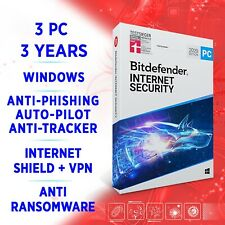 Bitdefender Internet Security 2020 3 PC 3 years FULL EDITION ACTIVATION KEY +VPN