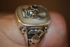 US Marine Skull Ring Vietnam Force Recon Sterling U.S.A. Marine Corps Military.