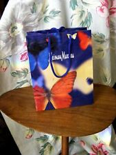 """Glossy Vintage Neiman Marcus """"Butterfly"""" Shopping Gift Bag Advertisement Decor"""