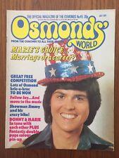 OSMONDS WORLD Issue № 45 July 1977 UK Monthly Music Magazine