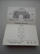 DEJEUNER OFFICIEL - MODANE 19/09/1971- Centenaire du Fréjus - TRANSINTER VOYAGES