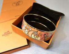 HERMES Bracelet Bangle Email GM Horse Motif Pink Used FedEx Expedited Shipping