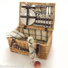 Picnic Hamper Basket 2 Person By LaRoca Wicker Picnic Hamper Basket (g)