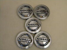 2003-2009 Nissan 350Z center caps hubcaps, 40343 5Y700, machined/chrome,set of 5