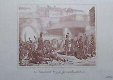 DAS BOMBARDEMENT DER STADT WIEN VON DER LEOPOLDSTADT Revolution 1848 Faksimile