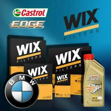 KIT TAGLIANDO OLIO CASTROL EDGE 5W30 6LT 4 FILTRI WIX BMW 118D E87 122 CV
