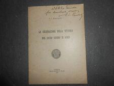 1920 P.L.RAMBALDI CELEBRAZIONE VITTORIA NEL SACRO GIORNO DI ROMA WW1 AUTOGRAFATO