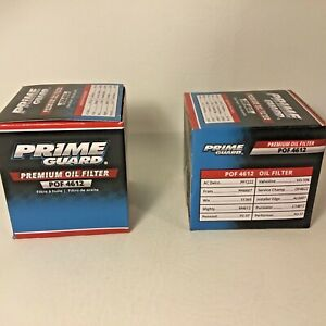 NEW Lot of 2 Prime Guard Premium Oil Filter POF 4612