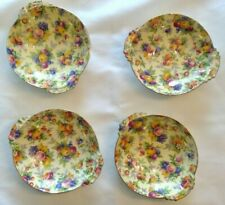 Four Royal Winton 'Evesham' nut/berry/candy dishes - Chintz - Flowers  - England