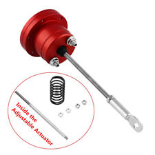 Universal Aluminum Alloy Red Turbo Adjustable Wastegate Actuator & Rod