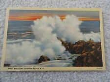 Giant Breakers, Hampton Beach New Hampshire    Postcard