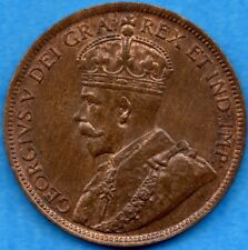 Canada 1917 1 Cent One Large Cent Coin - Uncirculated+