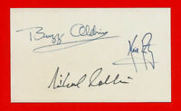 Apollo11 Armstrong, Aldrin & Collins Autograph Reprints On Old 3X5 Crd