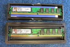 2 x Kingston KTH-XW4300/1G 1GB 240-Pin DDR2 SDRAM DDR2-667 PC2-5300 Memory