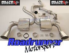 """Milltek Focus RS MK2 Exhaust System Stainless 3"""" Cat Back Non Res & Downpipe New"""