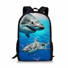 Cool Shark Print Backpack Boys Kids School Bookbags Travel Laptop Rucksack Gift