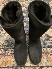 Womens size 7 UGG Amie Pure Black Wedge Boot