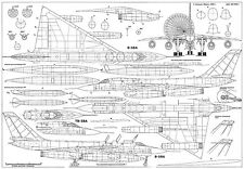PLS-72034 1/72 B-58 Hustler bomber Full Size Scale Plans (A2 format page)