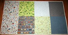 2 yd Panel Hoffman AROUND TOWN 100% Cotton Fabric GOURMET QUILTER Sky House Cars