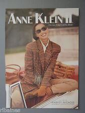 R&L Ex-Mag Advert: Anne Klein II Parfum & Eau De Toilette, Harvey Nichols