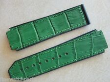 Green Aligator Look Rubber Strap For HUB Big Bang & Fusion 44-45mm Watches