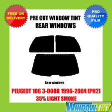 PEUGEOT 106 3-DOOR 1996-2004 (PH2) 35% LIGHT REAR PRE CUT WINDOW TINT