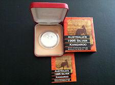 1995 $1 Sydney Coin Fair Kangaroo 1oz Silver Coin