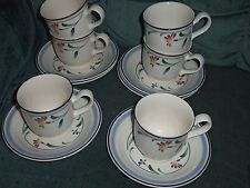 Noritake Keltcraft Shannon Spring pattern Cups Saucers Lot of 6 Sets