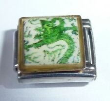 GREEN DRAGON Italian Charm DR21 - fits ALL 9mm Starter Bracelets - Chinese Photo