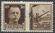 1944 RSI PROPAGANDA DI GUERRA 30 CENT TIRATURA BRESCIA III TIPO MNH ** - RR12032