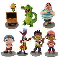 7 Pcs Disney Cartoon Jake and the Never Land Pirates PVC Figure Cake Topper Kid