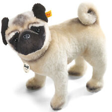 Steiff Lielou Pug mohair soft toy collectable dog in gift box - EAN 045042