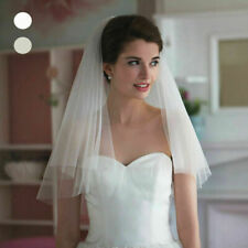 Grace Simple 2 layers tulle Bridal long Veil Wedding veils 60cm elbow With comb