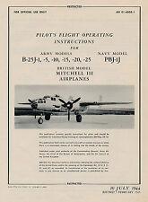 NORTH AMERICAN B-25J, PBJ-1J & MITCHELL III - PFOI 1945